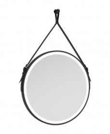 Astrid Style Rope Feature Illuminated Round 600x600mm Mirror