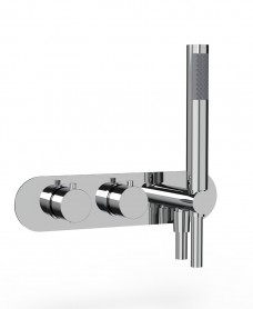 Quantum Round Horizontal Dual Control Concealed Thermostatic Shower Valve
