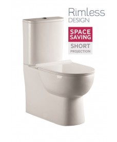 Verona Fully Shrouded RIMLESS Toilet and Soft Close Seat
