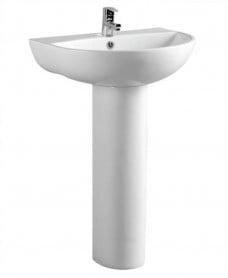 Verona 50 cm Basin and Full Pedestal 1 Tap Hole