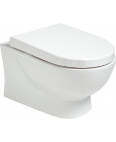 Verona Wall Hung RIMLESS Toilet and Soft Close Seat