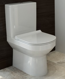 Viva Comfort Height Close Coupled WC - Slim Soft Close Seat