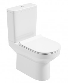 Vienna Close Coupled Rimless WC - Slim Soft Close Seat