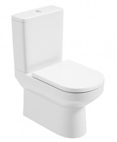 Vienna Close Coupled Rimless WC - Soft Close Seat