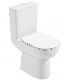 VComfort Height Close Coupled WC - Slim Soft Close Seat