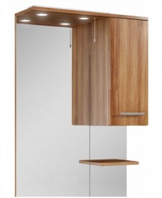 Belmont 70cm Walnut  Mirror with LED Light & Pullcord