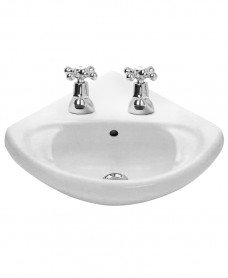 Anglo Corner Basin 2 Tap Hole