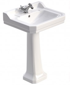 Westbury 61 cm Basin and Full Pedestal 1 Tap Hole