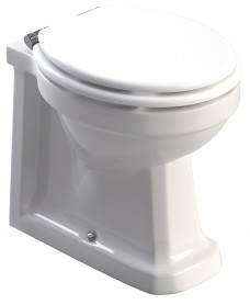Westbury Back to Wall Toilet and White MDF Soft Close Seat