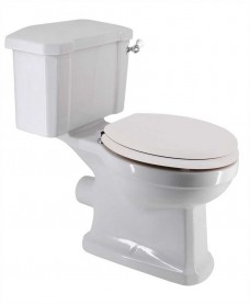 Westbury Traditional Close Coupled Toilet & White MDF Soft Close Seat