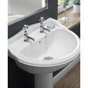 Cambridge 500 Basin with Full Pedestal - Duo Tap Hole