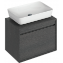 Reflex Dark Wood 65 CounterTop Vanity Unit and Enya Basin