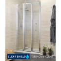 Revive 1200 Bifold Shower Door with Single Infill Panel - Adjustment 1140-1200mm