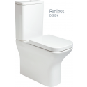 Sophia Comfort Height Fully Shrouded RIMLESS Toilet and Soft Close Seat