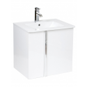 Avila Gloss White  60cm Vanity Unit and Toledo Basin with Loftus basin Mixer  - *Special Offer