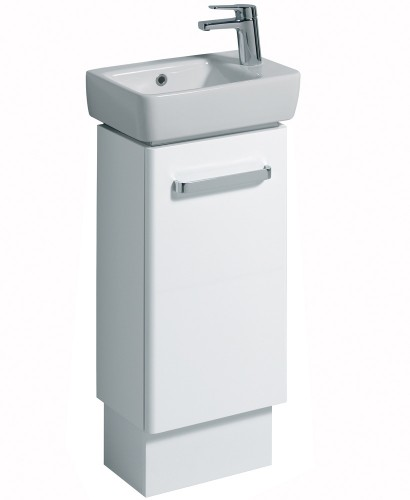 E200 400 white vanity unit floor standing for Floor standing bathroom furniture