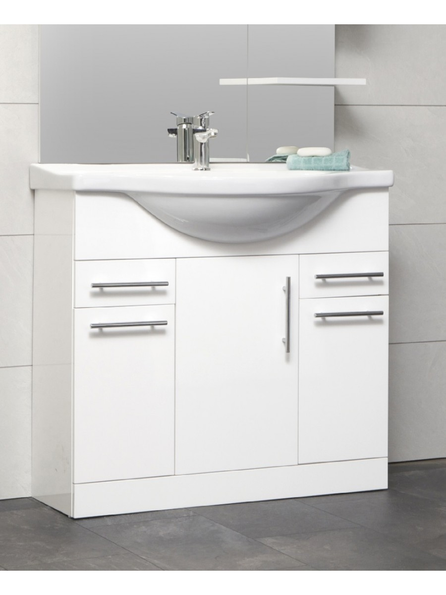 belmont 85cm vanity unit basin - Bathroom Vanity Units