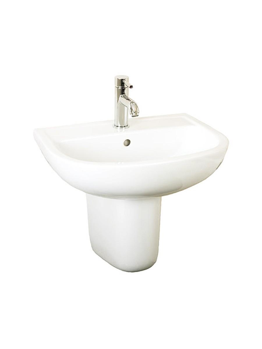 Compact Basin 55cm and Semi Pedestal