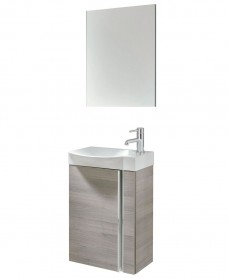 Prague 45 Wall Hung Sandy Grey Pack with Mirror