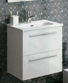 Paris 50 White Wall Hung Vanity Unit and Mirror Pack