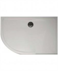 Kristal Surface 25mm 1200x900 Offset Quadrant LH Slimline Shower Tray and FREE 90mm Waste