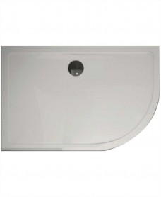 Kristal Surface 25mm 1200x900 Offset Quadrant RH Slimline Shower Tray and FREE 90mm Waste