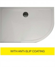 Kristal Surface 25mm 1200x900 Offset Quadrant RH Slimline Shower Tray and FREE 90mm Waste - Anti Slip