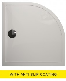 Kristal Surface 25mm 800x800 Quadrant Slimline Shower Tray and FREE 90mm Waste - Anti Slip