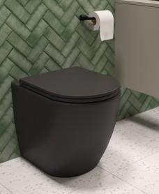 Avanti Back To Wall Rimless WC & Seat - Charcoal Grey