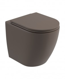 Atelier Back To Wall Rimless WC & Seat - Ground Mocha