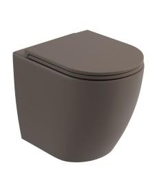 Avanti Back To Wall Rimless WC & Seat - Ground Mocha
