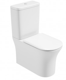 Amanda Comfort Height Fully Shrouded, Rimless Design with Soft Closing Seat - QR