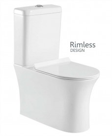 Amanda Comfort Height Fully Shrouded, Rimless Design with Soft Closing Seat SLIM - QR