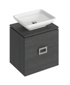 Katie Dark Wood 55 CounterTop Vanity Unit and Aimee Basin