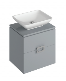 Katie Pearl Grey 55 CounterTop Vanity Unit and Aimee Basin