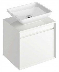 Reflex White 55 CounterTop Vanity Unit and Aimee Basin