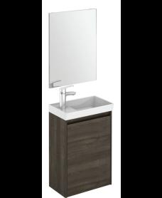Dijon Samara Ash 45 Wall Hung Vanity Unit and Mirror.