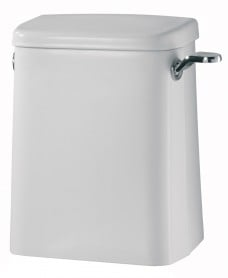 Avalon 6 or 4 litre close coupled cistern, spatula lever