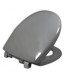 Avalon seat & cover grey metal top fix hinge