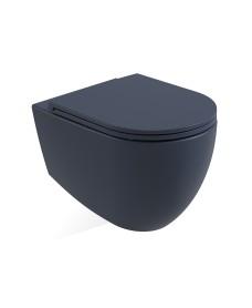 Avanti Wall Hung Rimless WC & Seat - Parisian Blue