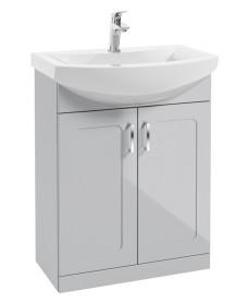 Bristol 65cm  Cool Grey Vanity Unit & Basin