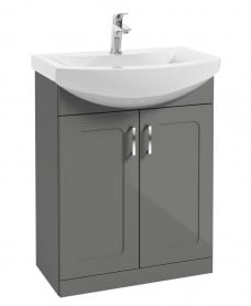 Bristol 65cm Steel Grey Vanity Unit & Basin