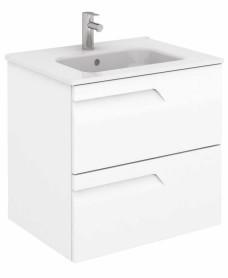 Brava 60 White Vanity Unit White and SLIM Basin