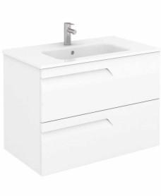 Brava 80 White Vanity Unit White and SLIM Basin