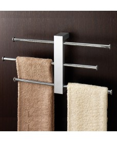 Bridge Wall Mounted Rack With 3 Sliding Towel Rails
