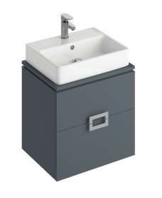 Katie Antracite 55 CounterTop Vanity Unit and Brook Basin