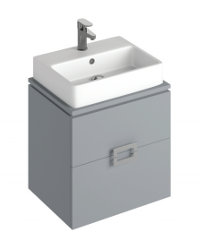 Katie Pearl Grey 55 CounterTop Vanity Unit and Brook Basin