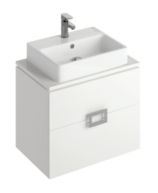 Katie White 65 CounterTop Vanity Unit and Brook Basin