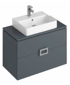 Katie Antracite 80 CounterTop Vanity Unit and Brook Basin