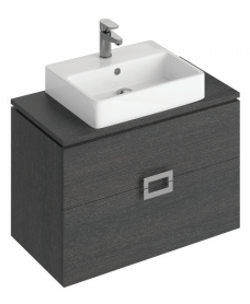 Katie Dark Wood 80 CounterTop Vanity Unit and Brook Basin